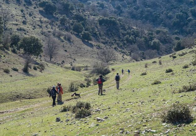 Y es un descenso por lo demás agradable y placentero, por el mismo tipo de carril terrero/herboso que el que subimos anteriormente.